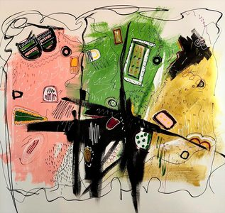 Barbara Mosher Vivacity Mixed Media on paper