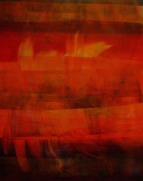 Barbara Shapiro Red Monotype