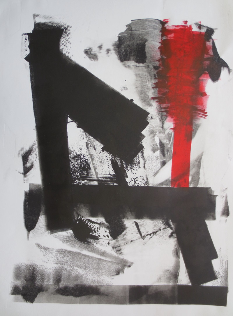 Barbara Shapiro Completion, a series Monotype