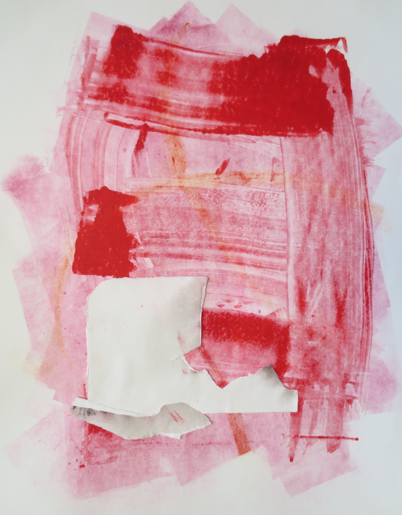 Barbara Shapiro Emotion Monotype with pasted paper