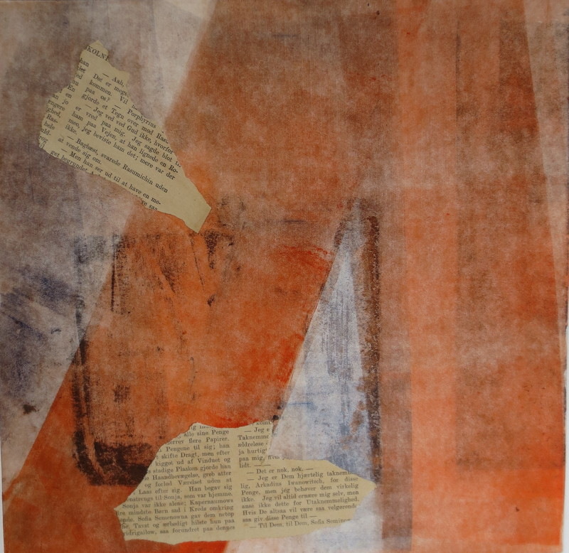 Barbara Shapiro The Last Word Monoprint