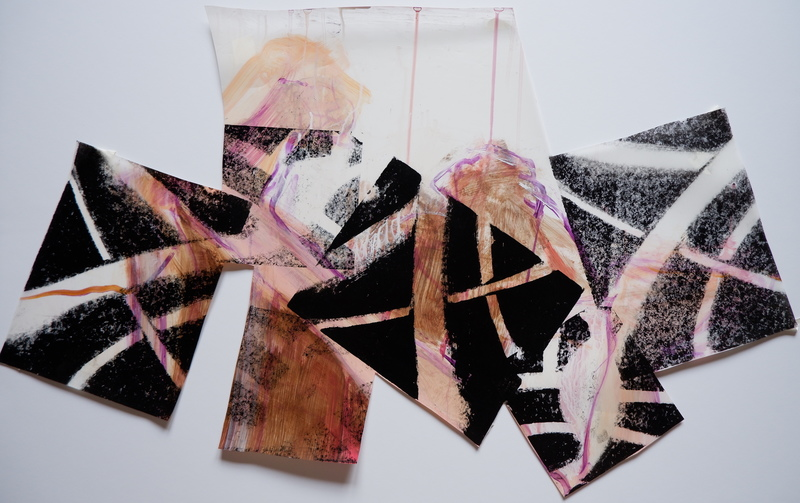 Barbara Shapiro Works on Mylar: Dancing Monoprint