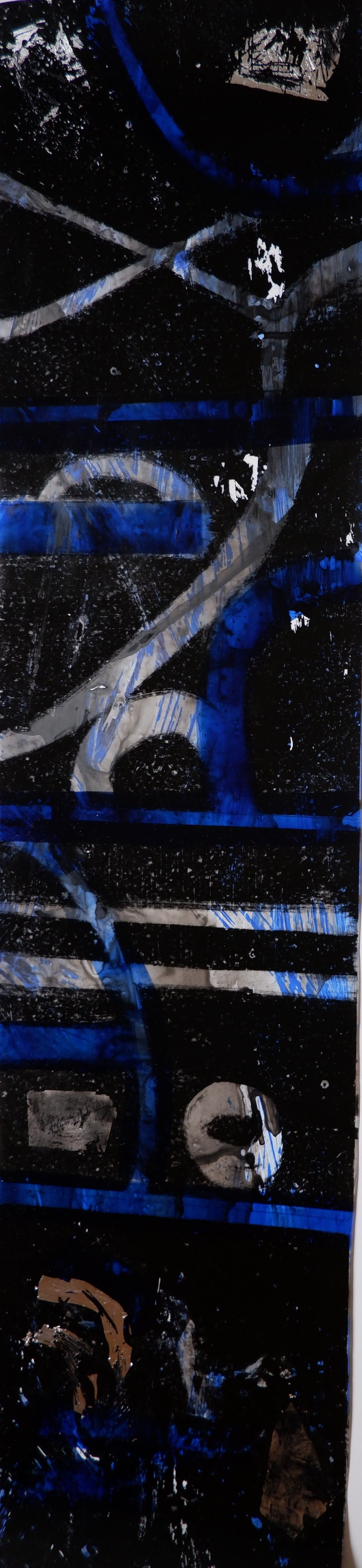 Barbara Shapiro Works on Mylar: FIlm Strips Monotype on Mylar with India ink