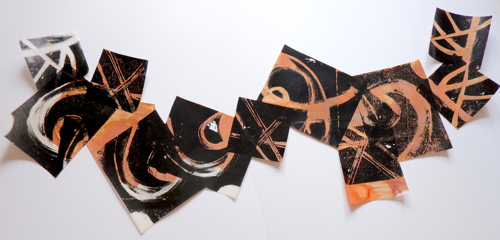 Barbara Shapiro Works on Mylar: Dancing Monprint