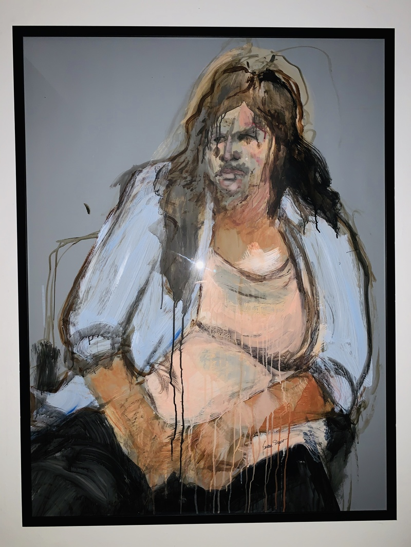 Barbara Shapiro Works on Mylar: Portraits Acrylic paint on Mylar