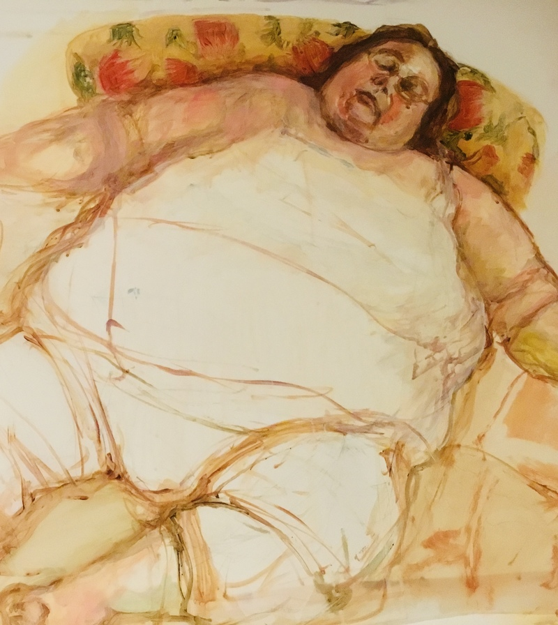 Barbara Shapiro Works on Mylar: Nap Time