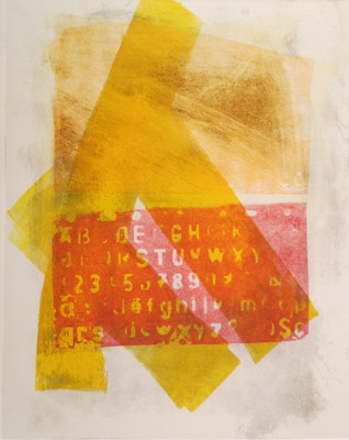 Barbara Shapiro In Other Words Monoprint: Pronto Plate Lithography, Monotype