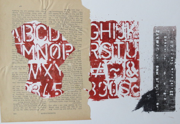 Barbara Shapiro In Other Words Mixed Media: Pronto Plate Lithography,Collage