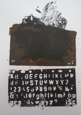Barbara Shapiro In Other Words Monoprint: ProntoPlate Lithography, Monotype