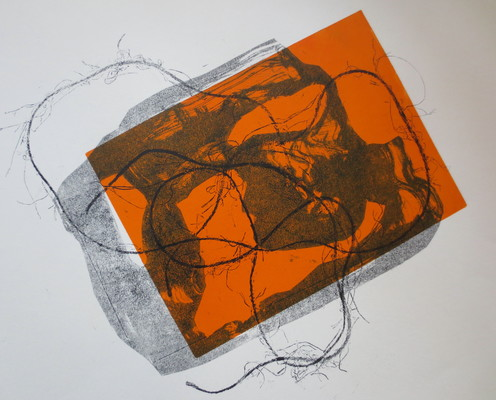 Barbara Shapiro StringTheory Mixed Media: Monotype, Pronto Plate Lithography