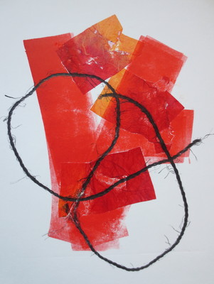 Barbara Shapiro StringTheory Mixed Media: Monotype, Chin Colle