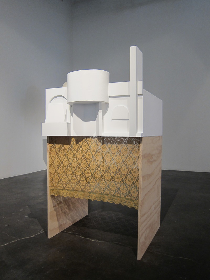 Bessie Kunath Inspired Architecture/ Headspaces and Screen Tests MDF, joint latex paint, lace, plywood