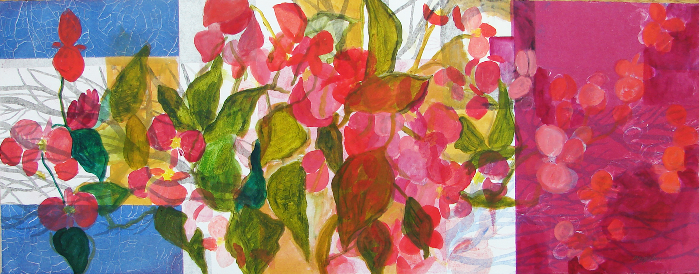 Small Monotypes Begonias I
