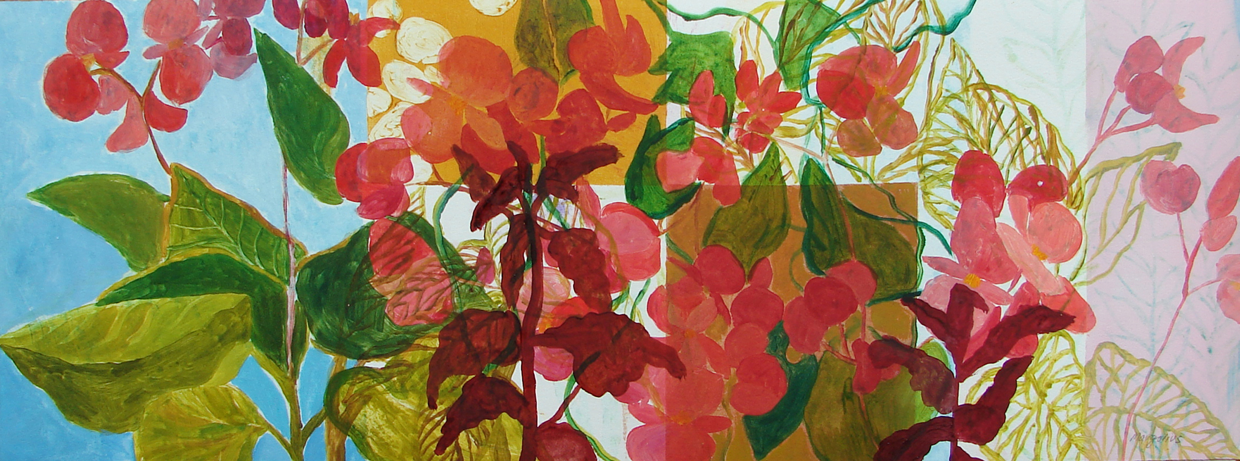 Small Monotypes Begonias III