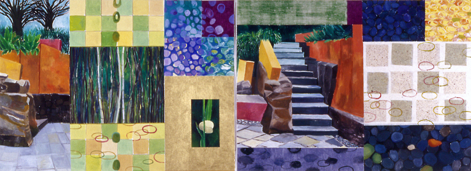 Large Diptych Monotypes Grand Entrance