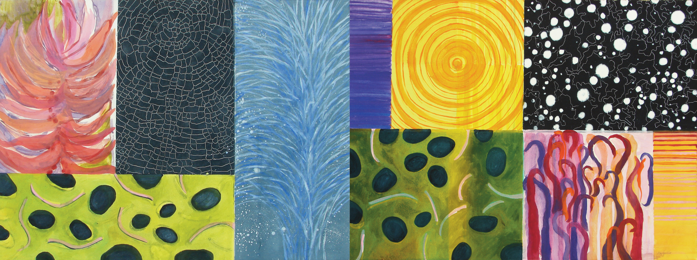 Large Diptych Monotypes Elements III