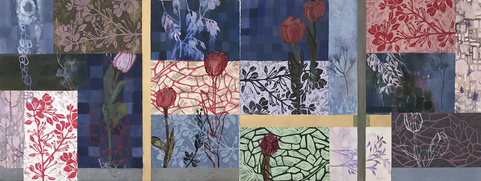 Paintings on Paper Red Tulips