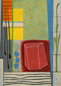 BILL FRAZIER SMALLER PAINTINGS Acrylic, charcoal and graphite on canvas