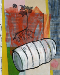 BILL FRAZIER SMALLER PAINTINGS Acrylic, charcoal and graphite on panel