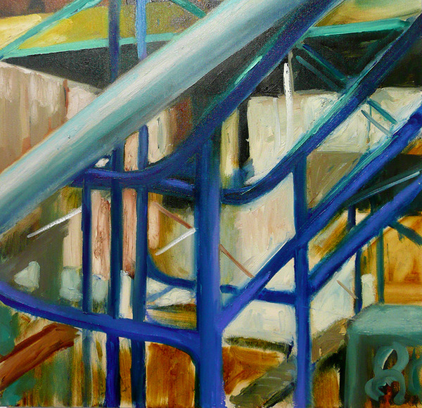 Camilla Fallon City Construction  oil on canvas