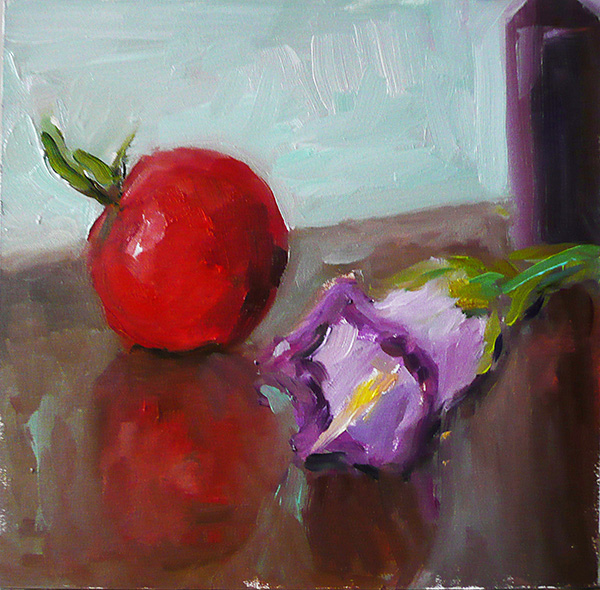 Fruit Paintings Cherry Tomato and Flower