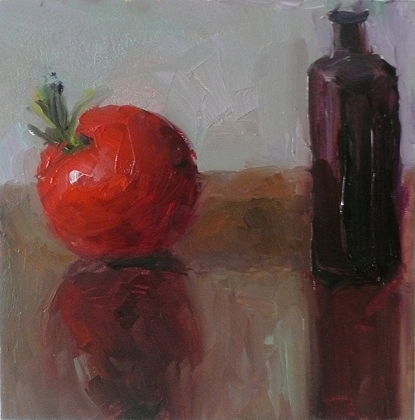 Fruit Paintings Small bottle with Cherry Tomato