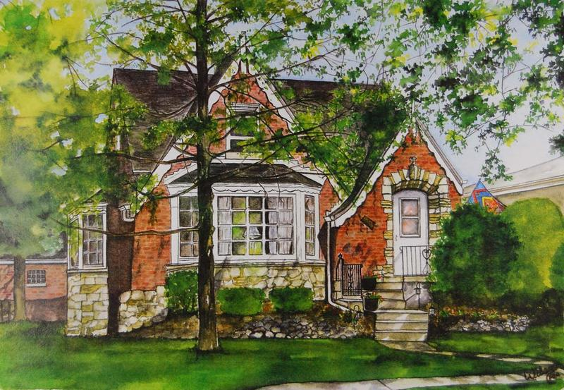 Carole Wilson Watercolors  House Portraits