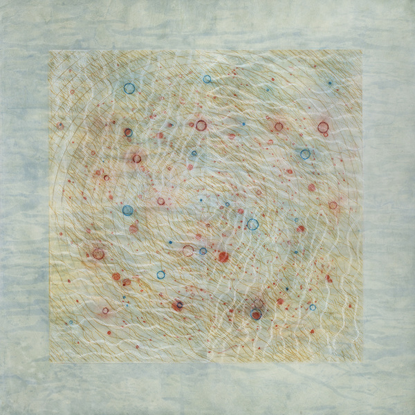 CAROLYN WEBB  What Was Scattered Gathers Drypoint and Collagraph on stained Kitakata paper