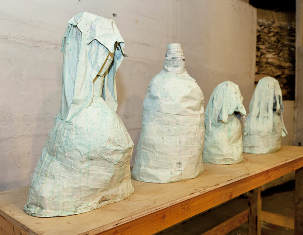 Catherine Fairbanks Ceramics/z Paper mache, no armature