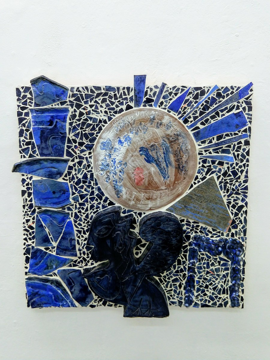 Catherine Fairbanks Mosaïkó High fire ceramic, mortar, cement board, wood, grout, gouache