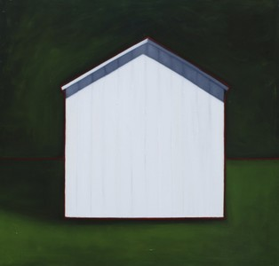 CELINE MCDONALD Sheds oil on canvas