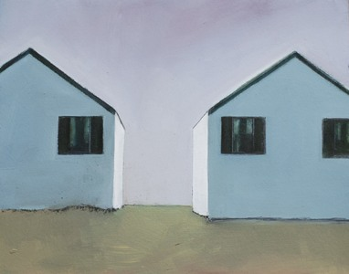 CELINE MCDONALD Cottages oil on paper on wood