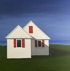 CELINE MCDONALD Dwellings oil on canvas