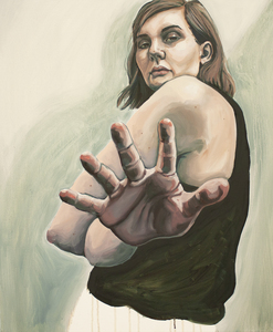 Foreshortened Self-Portrait