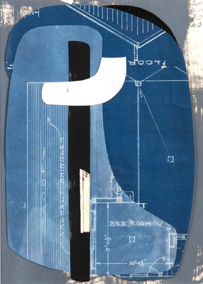 DANIEL ANSELMI Portfolio Collages Blueprint, Artist Painted Paper