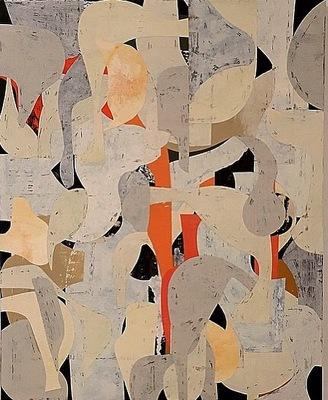 DANIEL ANSELMI Portfolio Paintings Artist painted paper Collage on panel