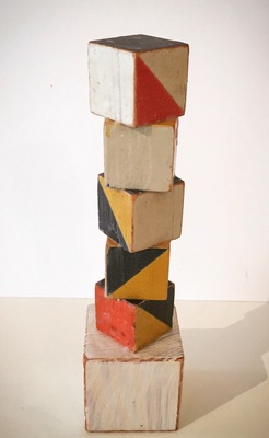 DANIEL ANSELMI Assemblages Wood blocks, wax