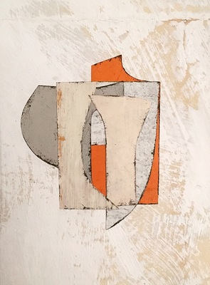 DANIEL ANSELMI Residuum Series  Artist painted paper Collage on paper