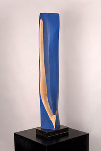 DAVID ERDMAN Available Works linden wood painted Vivid Blue