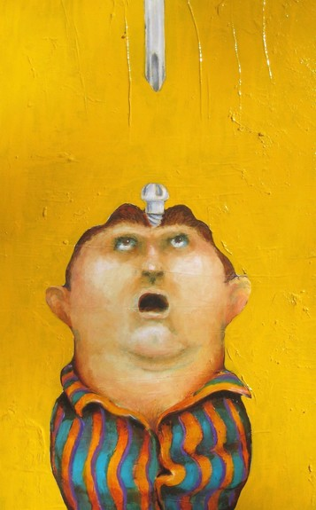 David Geiser Drawings / Fiends / Wackos / Clown Oracle paintings oil on board