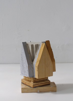 David McDonald Tiny Histories Wood, Mortar, House Paint