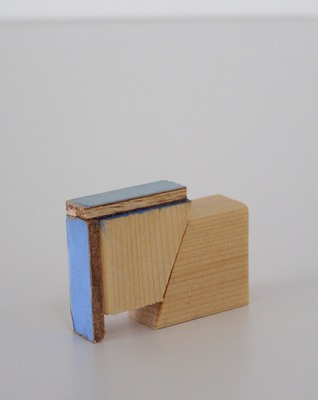 David McDonald Tiny Histories Wood, Joint Compound, Acrylic