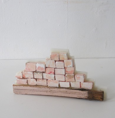 David McDonald Tiny Histories Plaster, Wood, Found Paint, Watercolor