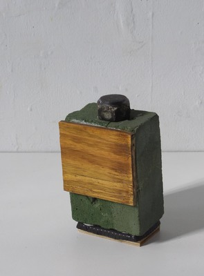 David McDonald Tiny Histories Mortar, Wood, Self Drying Clay, Pigment