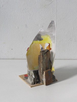 David McDonald Tiny Histories Wood, Mortar, Paper, Watercolor, Acrylic