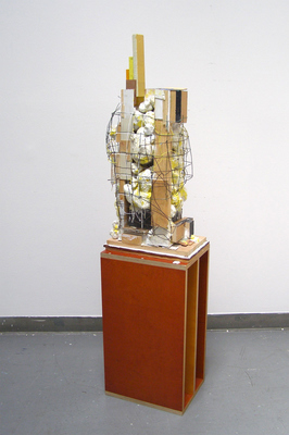 David McDonald Various works 2010-2015 Wood, Hydrocal, Mortar, Wire, Enamel Paint