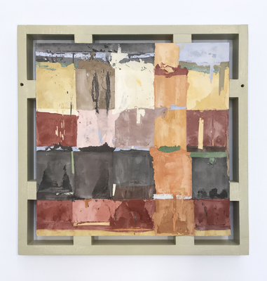 David McDonald 2011-present Hydrocal, Pigment, Wood, Enamel Paint, Varnish