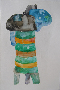David McDonald Works on Paper Watercolor on Paper