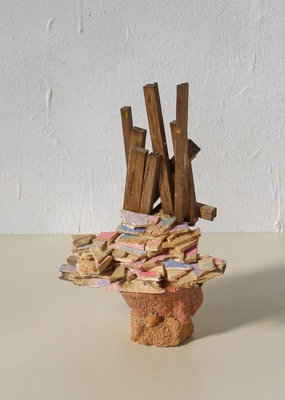 David McDonald Compacts Balsa Wood, Hydrocal, Pigment, Sand, Watercolor, Wood Stain,Varnish