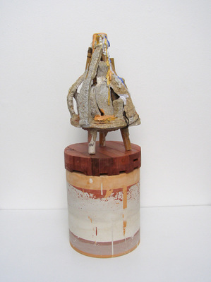 David McDonald Ten Stages of Understanding Bamboo, Hydrocal, Wood, Pigment, Sand, Plaster Gauze, Wood Stain, Polyurethane
